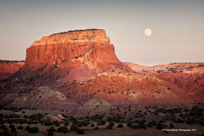ghost ranch moon rise