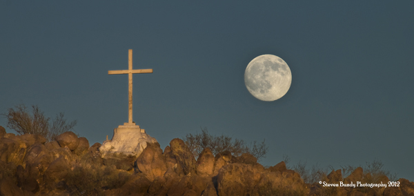 Mission San Xavier Cross and Moon