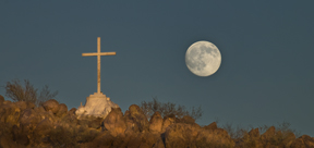San Xavier Cross and Moon