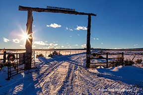 west gorge ranch gate